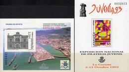 Imperf.EXPO 2006 Spanien 3127B+Bl.149SD ** 30€ EUROPA Rathaus Hoja Pruebas Blocs Philatelics Black Sheets Bf Espana - Fogli Ricordo