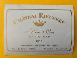 12633 - Château Rieussec 1959 Sauternes - Bordeaux
