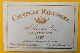 12635 - Château Rieussec 1967 Sauternes - Bordeaux