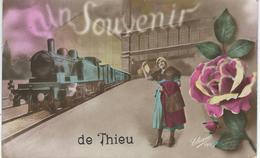 Un Souvenir De THIEU - Cachet De La Poste 1922 - Le Roeulx