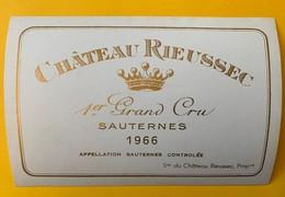 12636 - Château Rieussec 1966 Sauternes - Bordeaux