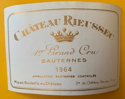 12637 - Château Rieussec 1964 Sauternes - Bordeaux