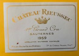 12638 - Château Rieussec 1959 Sauternes - Bordeaux