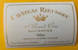 12639 - Château Rieussec 1954 Sauternes - Bordeaux