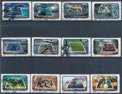 2010 FRANCE Adhesif 403-14 Oblitérés, Cachet Rond, Environnement, Eau, Série Complète - France