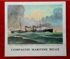 Menu Compagnie Maritime Belge - Paquebot Baudouinville - 1959 - - Menus