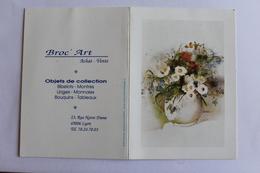 Petit Calendier 1991 Offert Par  Broc Art  Lyon - Calendriers