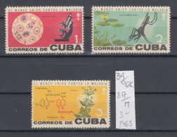 96K34 / 1962 - Michel Nr. 817-819 MNH ( ** ) The Malaria Eradication Cinchona Pubescens  , Cuba Kuba - Cuba