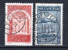 Suisse 1924 : Timbres Yvert Et Tellier N° 212 Et 213 Oblitérés. - Oblitérés