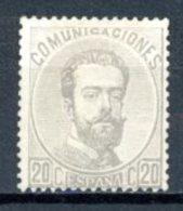 Espagne  Royaume 1872     Y&T   122    X    ---     Sans Charnière  --  Gomme Partielle  --  TB - 1872-73 Regno: Amedeo I