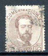 Espagne  Royaume 1872     Y&T   123    Obl    ---     TB - 1872-73 Reino: Amadeo I