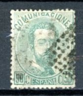 Espagne  Royaume 1872     Y&T   125    Obl    ---     TB - 1872-73 Reino: Amadeo I