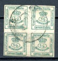Espagne  Régence 1873     Y&T   140a    Obl    ---    Vert Foncé  --  Belle Oblitération  --   TB - 1873-74 Regentschaft