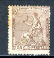 Espagne  République 1873     Y&T   134    X    ---     Sans Gomme  --  Quelques Rousseurs  --  TB - Neufs
