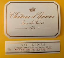 12645 - Château D'Yquem 1979 Spécimen - Bordeaux