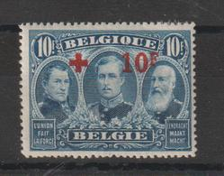 Belgique 1918 Croix Rouge 163 1 Val * Charn Papier Voir Scan - 1918 Croix-Rouge