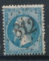 N°22 VARIETE. - 1862 Napoléon III.