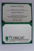 Petit Calendier 1991 Offert Par MONARQUE Lyon - Calendriers