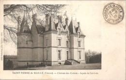 CP 86-SAINT PIERRE DE MAILLE- LE CHATEAU DES COTTETS 1910 - Otros Municipios