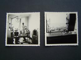 2 X PHOTOGRAPHIE 1960 : CABINET DENTAIRE / DENTISTE / SANARY ( VAR ) - Métiers