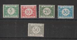 Belgique 1919 Taxe 26-31 5 Val ** MNH - Taxes