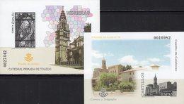 Imperf.EXPO 2004 Spanien 3736B+Bl.143SD ** 25€ Burg Kathedrale Hoja Pruebas Blocs S/s Christmas Black Sheets Espana - Fogli Ricordo