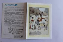 Petit Calendier 199O Offert Par  La Poste - Calendriers