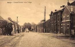 Oreye - Grand'route Vers Liège (animée, Edit. Henri Kaquet 1927) - Oreye