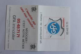 Petit Calendier 199O Offert Par   GFA IMMOBILIER Chalon Sur Saone - Calendriers