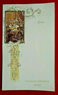 Menu 1900 Champagne Delbeck - Reims - Gaufré - Menus