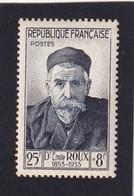 FRANCE 1954 - YT N°993 - 25 F. + 8 F. Bleu-noir - Dr Emile Roux - Célébrités Du XIIIe Au XXe Siècle - Neuf** - TTB Etat - France