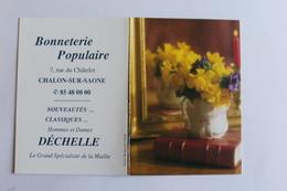 Petit Calendier 199O Offert Par   Bonneterie Populaire Chalon Sur Saone - Calendriers