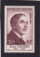 FRANCE 1954 - YT N°994 - 30 F. + 10 F. Lilas-brun - Paul Valéry - Célébrités Du XIIIe Au XXe Siècle - Neuf** - TTB Etat - Ongebruikt