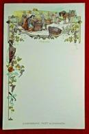 Menu 1900 Art Nouveau Champagne Moët & Chandon - Gaufré - Menus