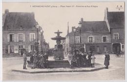 HENRICHEMONT (Cher) - Place Henri IV - Fontaine Et Rue D'Anjou Café De La Poste - Henrichemont
