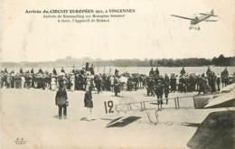 ARRIVEE DU CIRCUIT EUROPEEN 1911 A VINCENNES ARRIVEE DE KIMMERLING SUR MONOPLAN SOMMER - Flieger