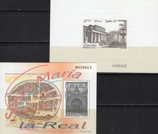 Imperf.EXPO 1985 Spanien 3604B+Bl.28SD ** 102€ Pradomuseum Hoja Pruebas Church Blocs Philatelic Black Sheets Espana - Fogli Ricordo
