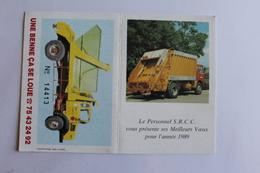 Petit Calendier 1989 Offert Par SRCC - Calendriers
