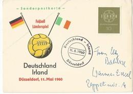 Germany Deutschland Bund BRD Sonderkarte Fussball Länderspiel Irland 1960 Düsseldorf RARE Football - Covers & Documents