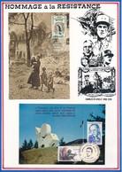 FRANCE  - CARTES ANNEE MONDIALE DU REFUGIE 7.04.60 PARIS+40E ANNIV DE LA LIBERATION COMMANDANT BULLE 23.8.84 ALBERTVILLE - Guerre Mondiale (Seconde)