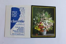Petit Calendier 1989 Offert Par Claverie - Calendriers
