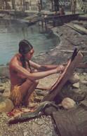 Preparing Salmon , Kwakiutl Indians , British Columbia , 30-50s - Native Americans