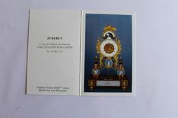 Petit Calendier 1989 Offert Par  Joyerot Chalon Sur Saone - Calendriers