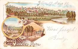 57 METZ - Gruss Aus QUEULEU - METZ - Lithogravure Multi-vues - Voyagée 1899 - Metz