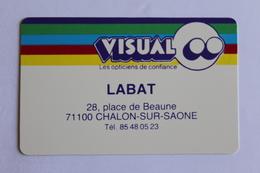 Petit Calendier 1989 Offert Par   VISUAL LABAT  Chalon Sur Saone - Calendriers