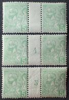 2264 - 1904/1905 - MONACO - Albert 1er - N°22 NEUFS** Mill. 4 Et 5 - Monaco