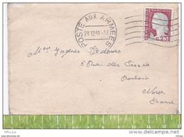 L4C369 France 1961 L Poste Aux Armées Pour Roubaix Aff  0,25f Decaris Flamme Klussendord O= 6  L.O. - France