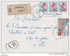 L4C382 France 1964 Devant LAR Tourcoing Nord Pour Lille Aff 1,60f Obl Cad Hexagonal Recette Auxilliaire Urbaine - France
