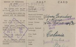 1-Prigionieri Di Guerra Italiani-Australia-Da Campo 12°/11-Stato COVRA A Catania 14.1.44 - War 1939-45