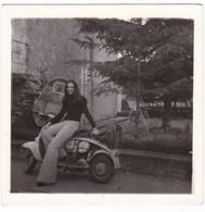 SCOOTER - MOTO SCOOTER - LAMBRETTA - DONNA - FOTO ORIGINALE - Auto's
